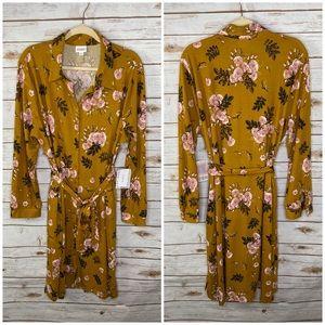 LulaRoe floral Ellie button front dress / NWT